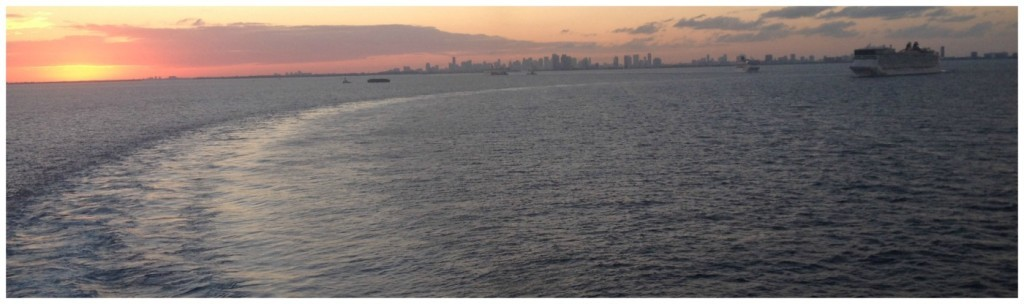 Sail away with other ships in Miami