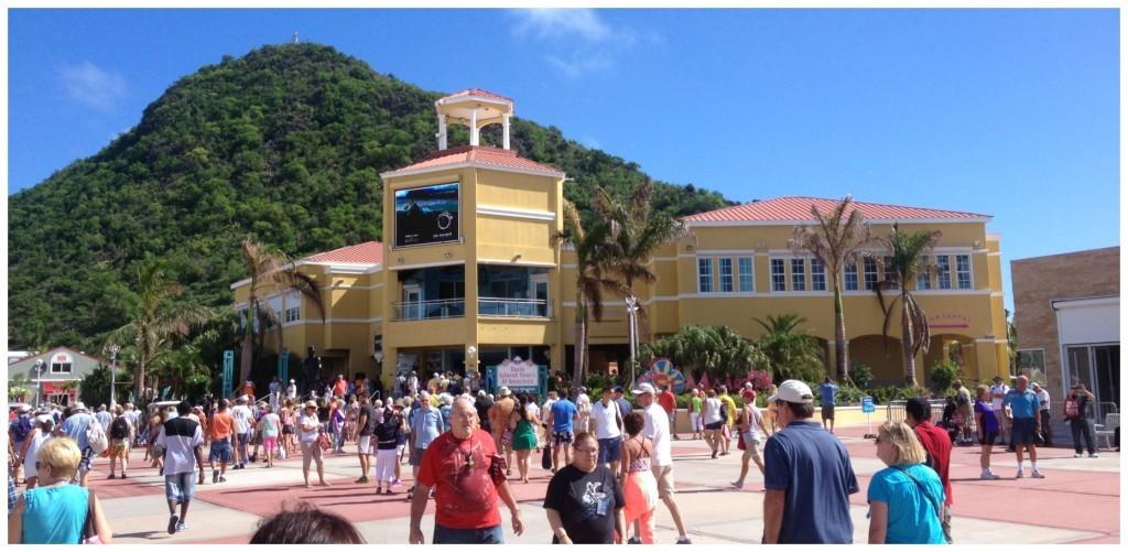 Saint Martin cruise terminal area