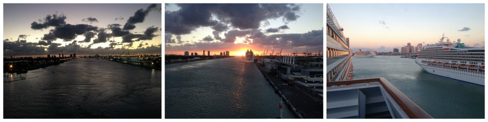 Ships turning in Miami docks