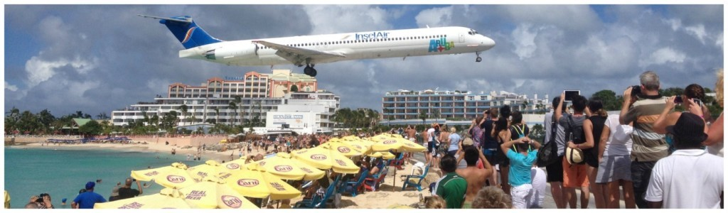 St Maarten airport at the beach