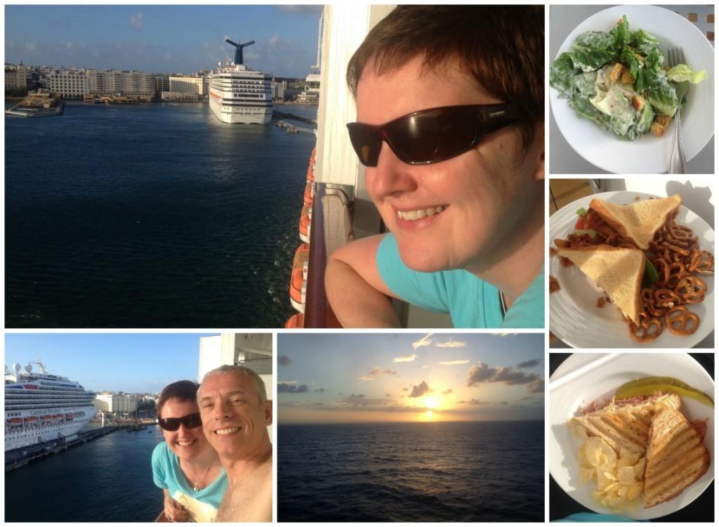 Sun set room service for sail away