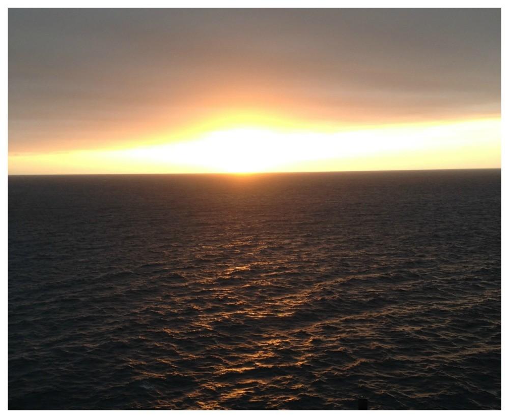 Sun setting in Mexico