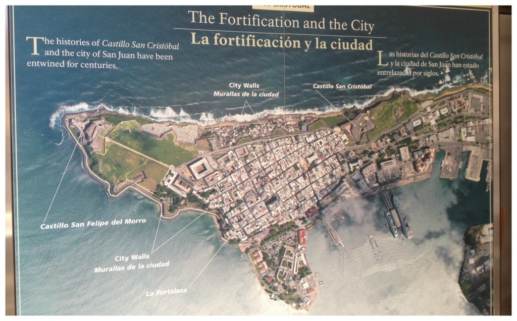 The Fortification and the city of San Juan