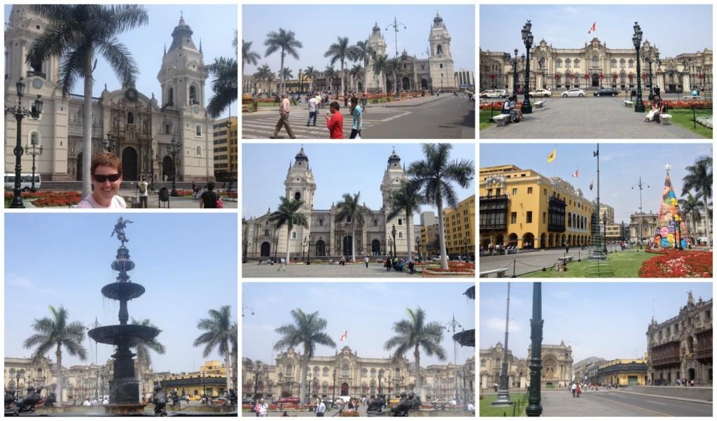 The Plaza Mayor in Lima Peru