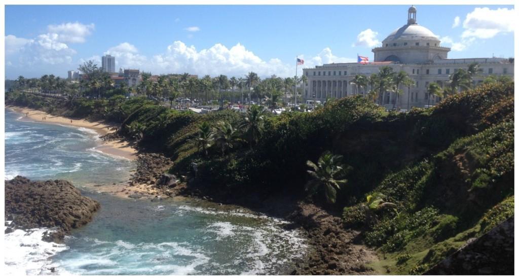 The San Juan coastline from Castillo San Cristobal