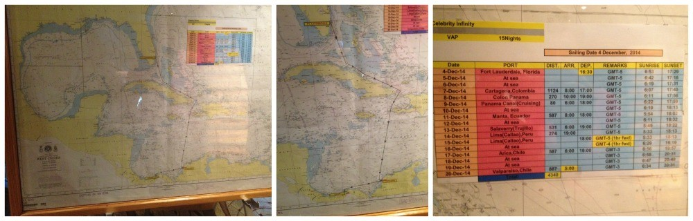 The map of our voyage Fort Lauderdale to Valparaiso