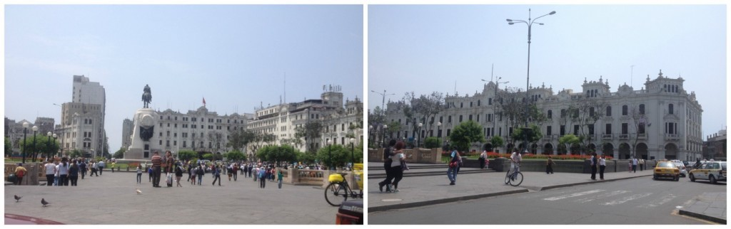The square in Lima