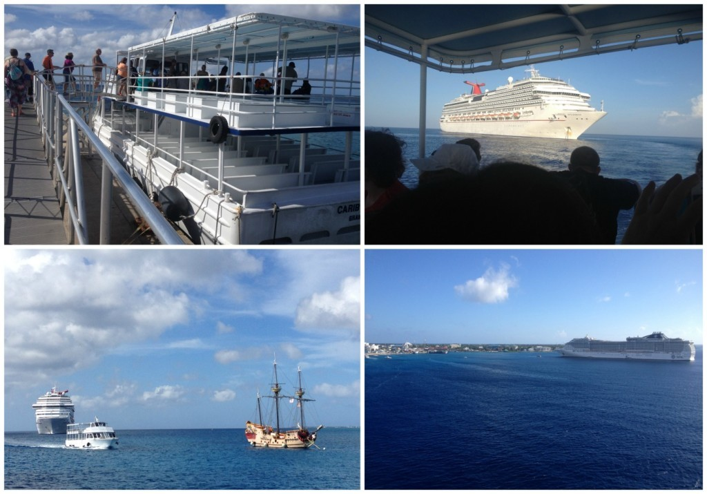 The tenders to and from the ship in Grand Cayman