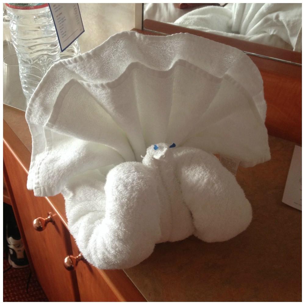 Towel animal on Carnival Splendor