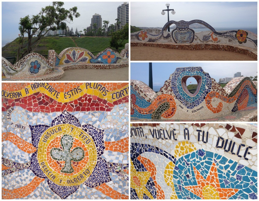 Wonderful mosaic art around the area in Miraflores