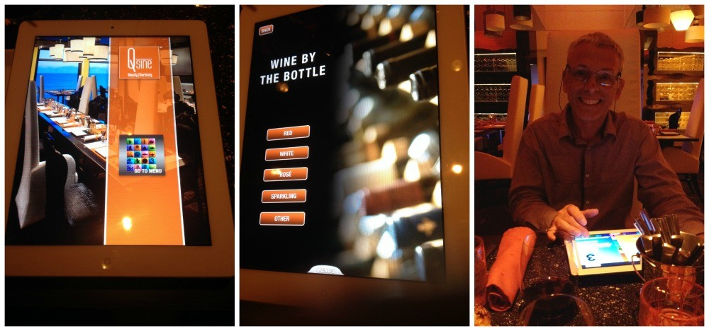 iPad menu in Qsine on Celebrity