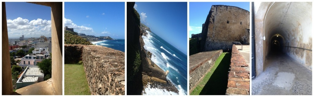images from the San Cristobal fort in San Juan