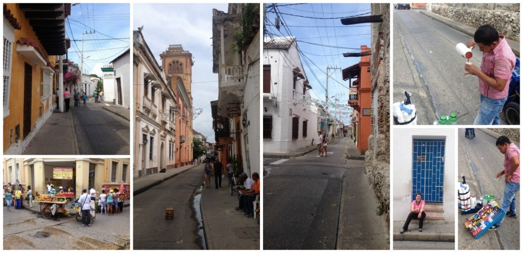 images from the old city in Cartagena