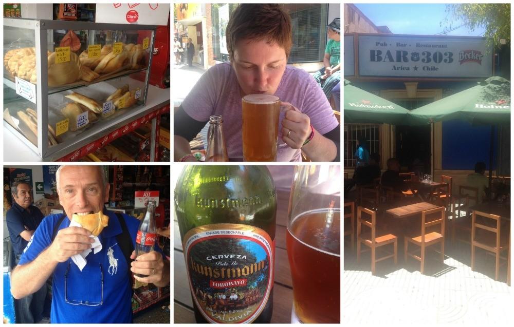 A pie & beer in Arica