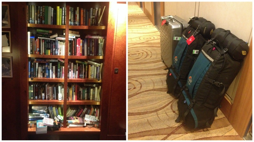 Books returned and bags packed ready for collection