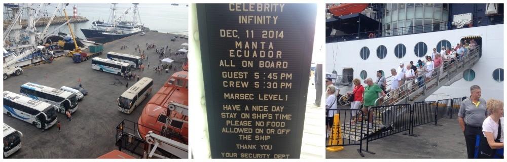 Celebrity Infinity in Manta Ecuador