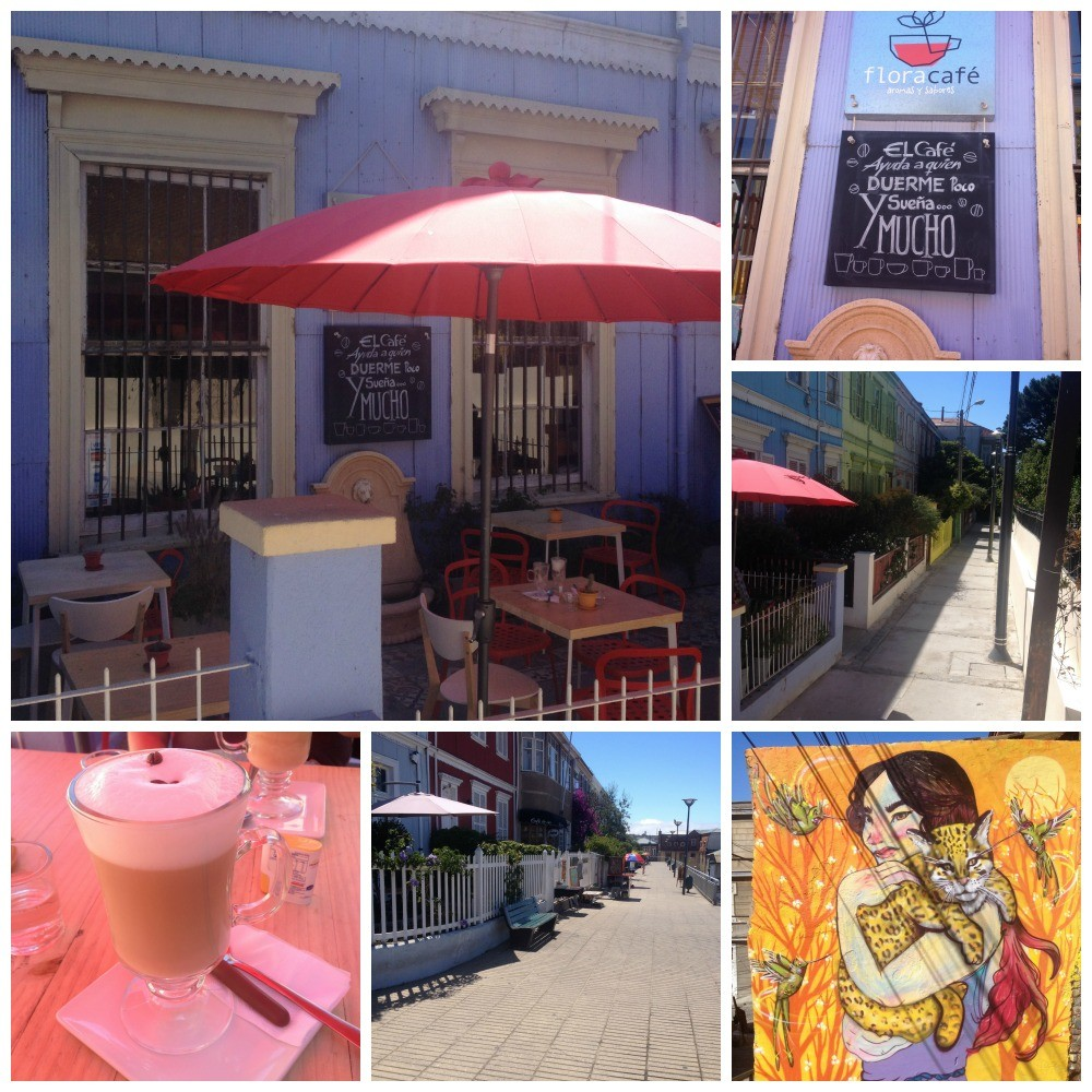 Coffee from Flora Café in Valparaiso