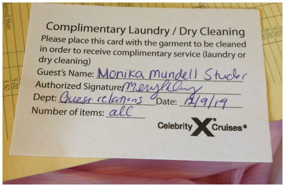 Complimentary Laundry