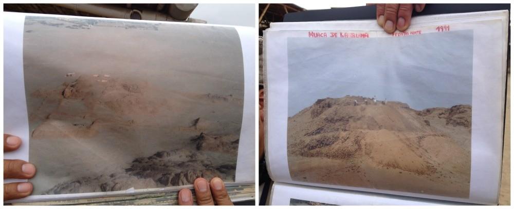 How Huaca De La Luna looked years ago