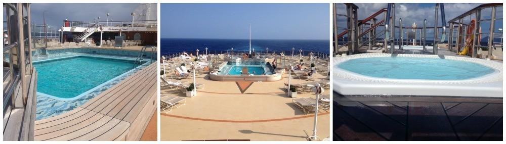 Lido pool & whirpools on Queen Elizabeth