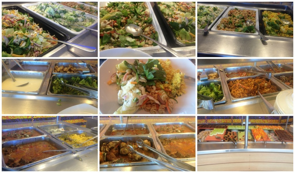 Lunch buffet in the Oceanview Cafe on Celebrity Infinity