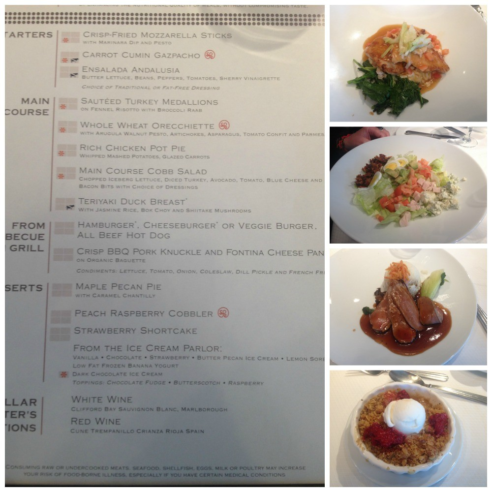 Lunch on Celebrity Infinity