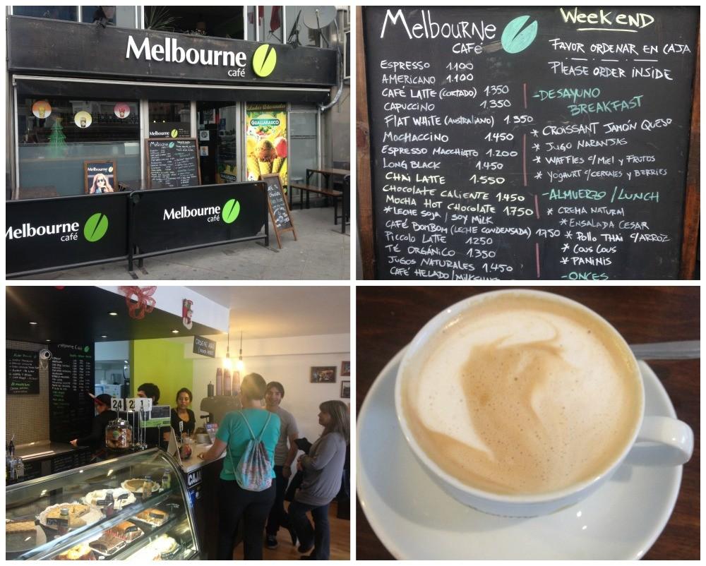 Melbourne Café in Plaza Sotomayor in Valparaiso