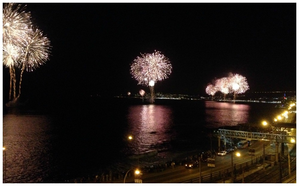 New Years Eve Fireworks In Vina Del Mar Amp Valparaiso