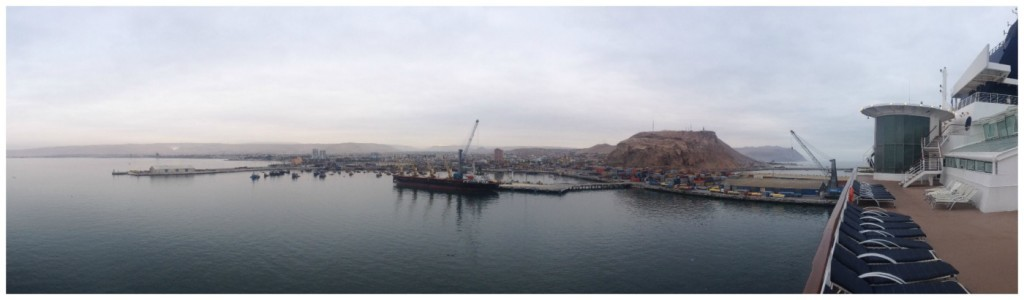 Panorama of Arica in Chile