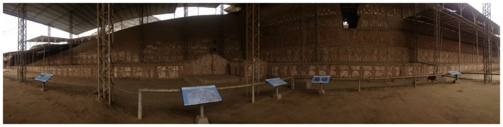 Panorama of the archilogical Old Temple site