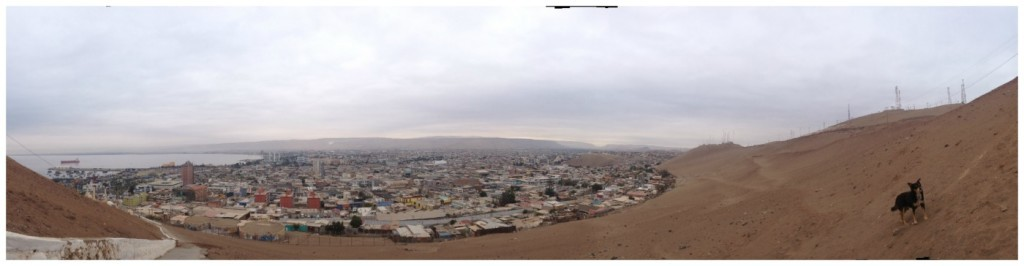 Panorama to the city of Arica in Chile