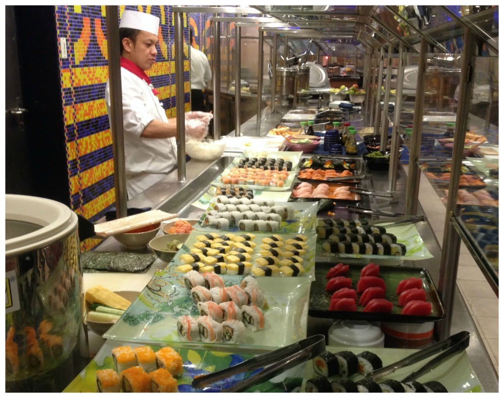 Sushi from the Oceanview cafe on Celebrity Infinity