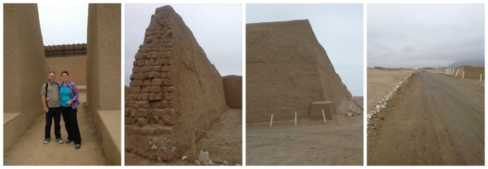 The huge sand walls of Chan Chan