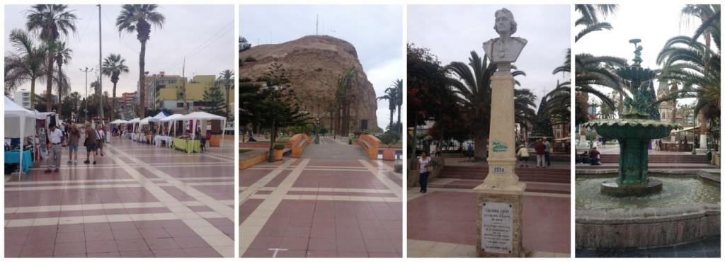 The main square in Arica Chile
