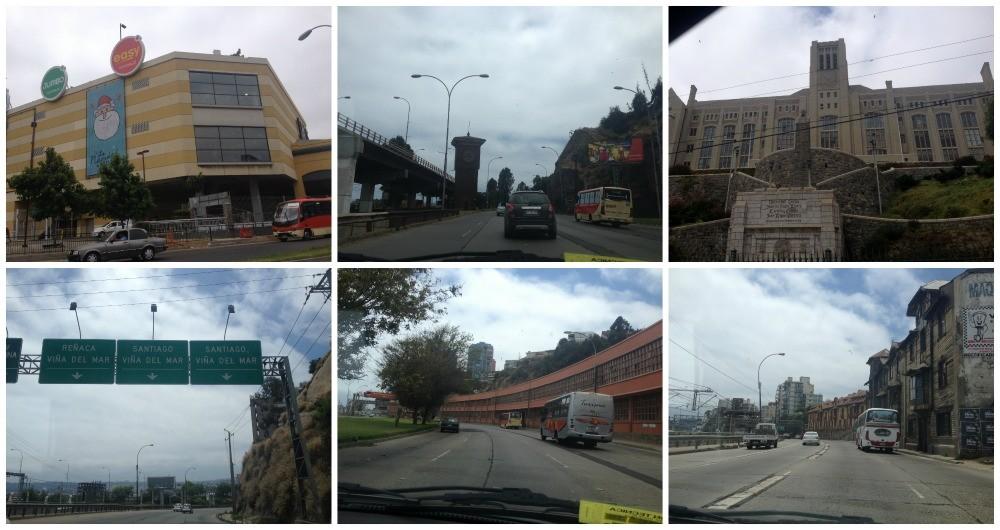 The road from Valparaiso to Vina del Mar