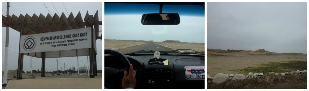 The road to Chan Chan in Peru