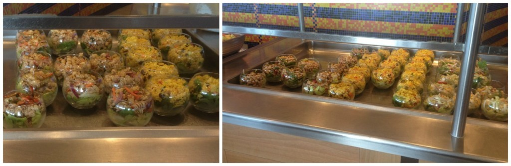 The same salads at dinner that were on the lunch buffet