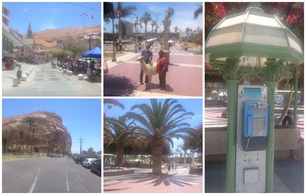 The town of Arica in Chile