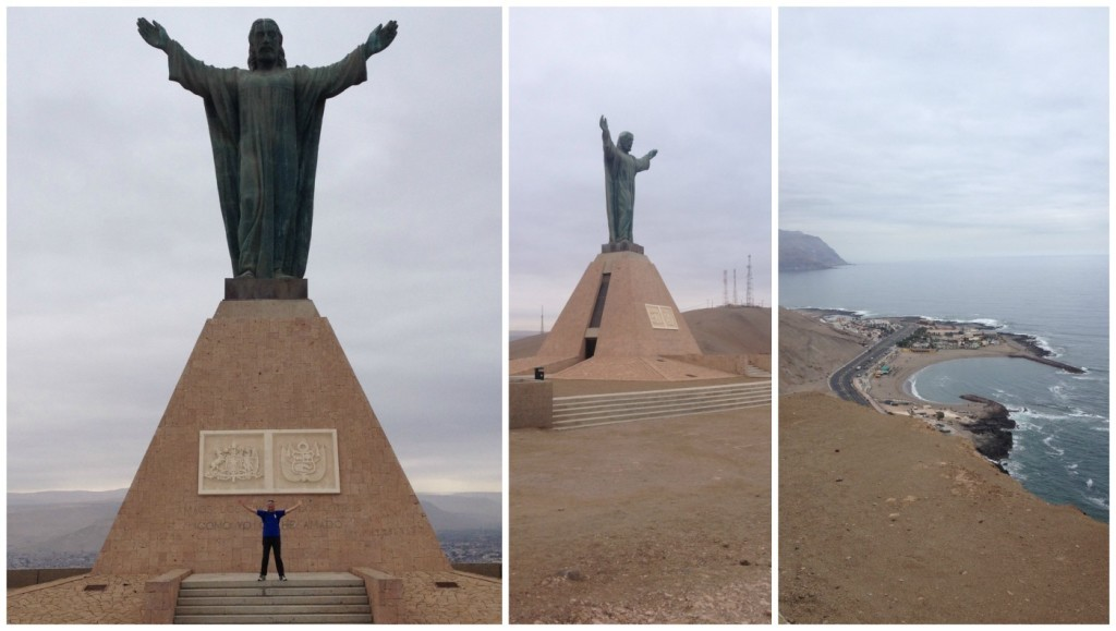 The very top is a statue of Christ