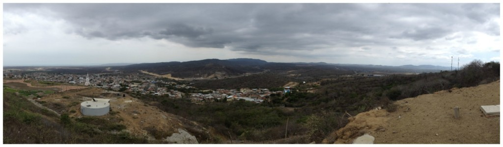 The view over Montecristi, Ecuador