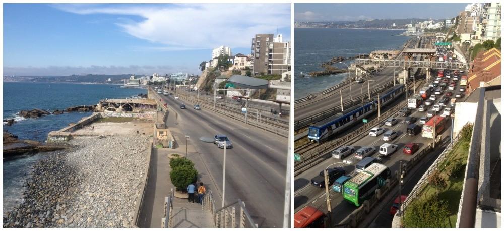 The view towards Vina del Mar center