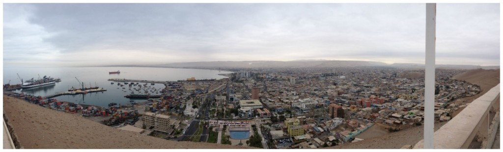 The views from the top of Morro de Arica