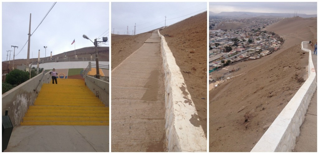 The walk up to the top of Morro de Arica