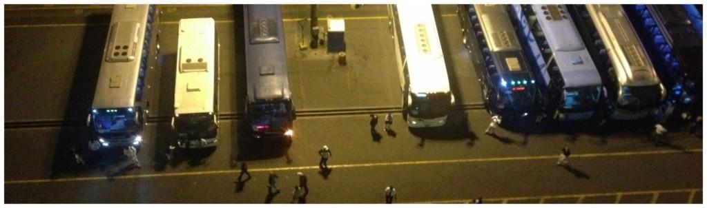 Tour buses at Lima