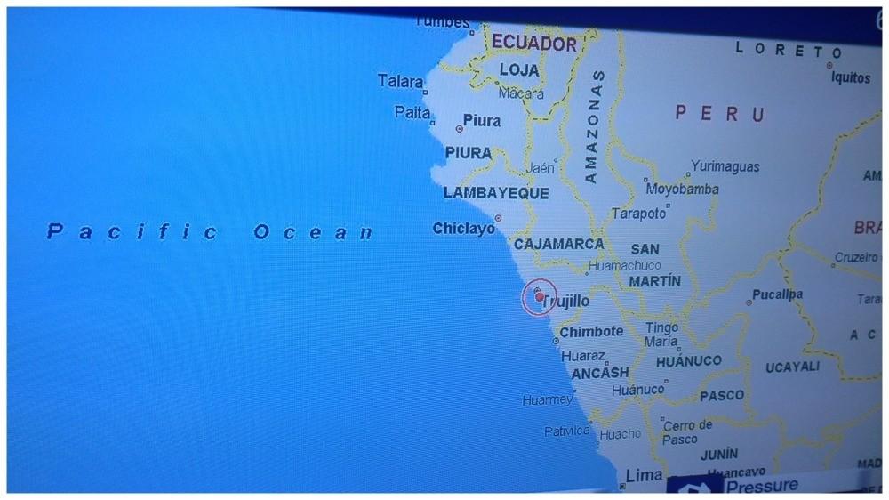 Trujillo on the Navigation map