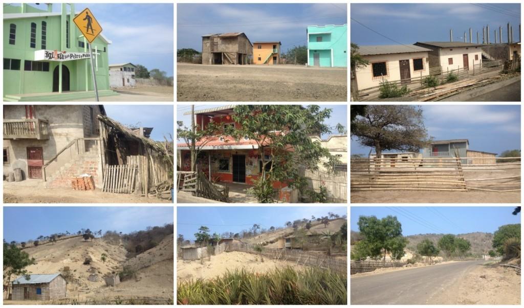 Very dry area in Manta Ecuador