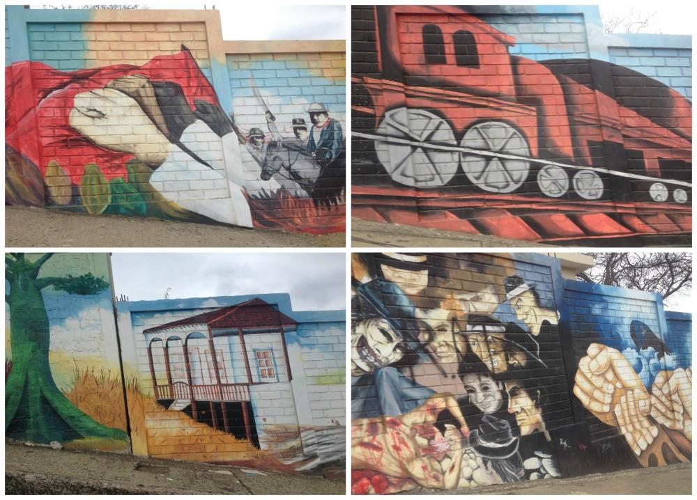 Wall art in Montecristi, Manta