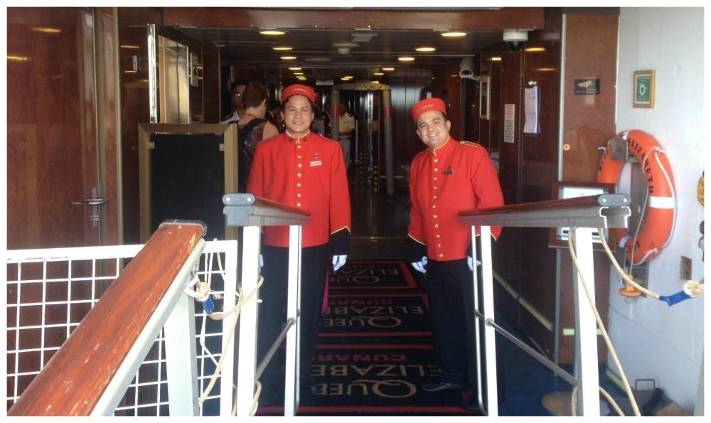 Welcome on board Queen Elizabeth