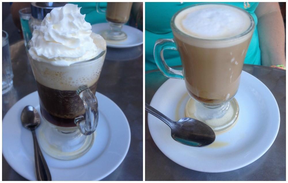 A common cappuccino & latte in Santiago