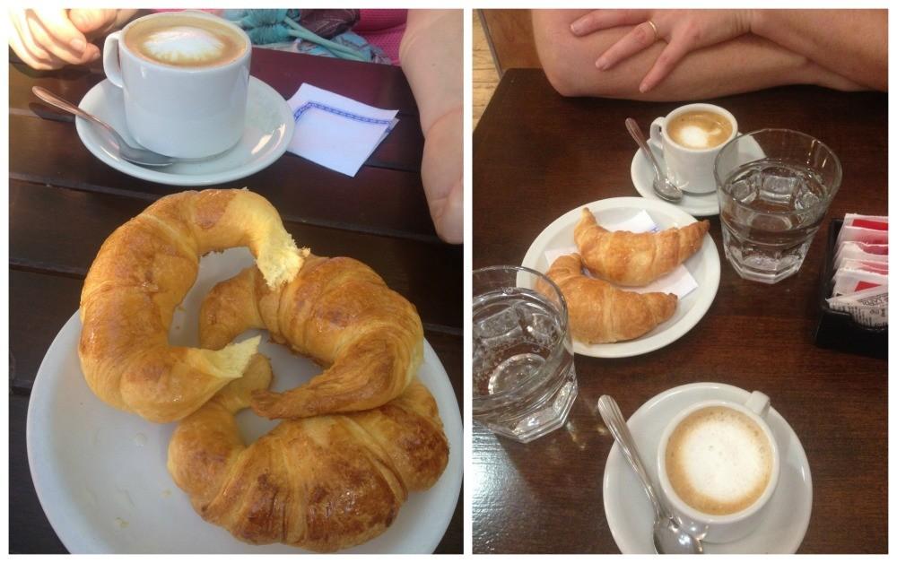Coffee and medialunas